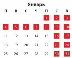 сколько дней календаря