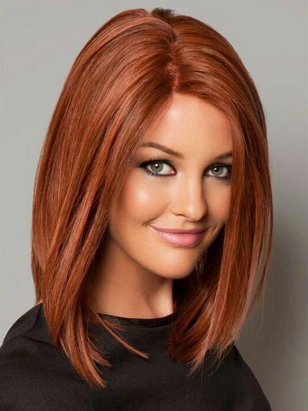 Современная стрижка на средние волосы