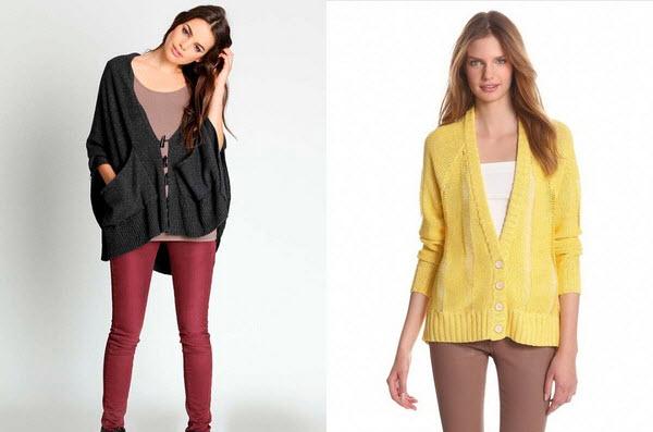 Особняком среди остальных видов одежды стоят вязаные кардиганы 2016, фото которых представлены ниже со схемами вязания
