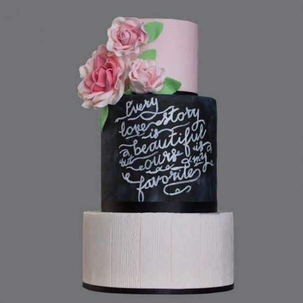 фото, свадебные торты 2017 года
