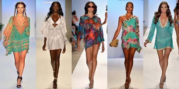 модные пляжные туники платья 2018 года