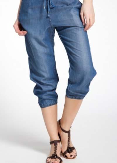 модные женские джинсовые бриджи 2017 года