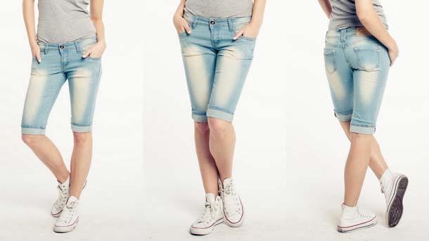 Как обрезать джинсы под бриджи женские