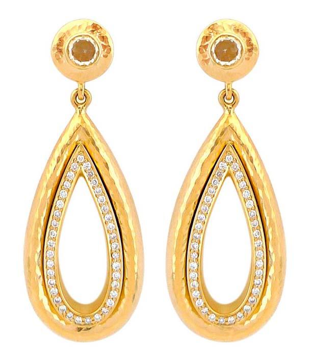 модные золотые серьги 2019 года